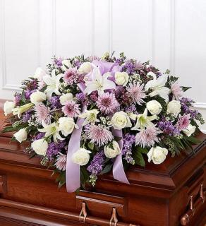 Traditional Casket Spray - Lavender