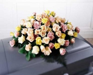 Rose Casket Spray - Multi Color