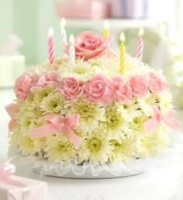 birthday flower cake, pastel  conroy's flowers, Beautiful flower
