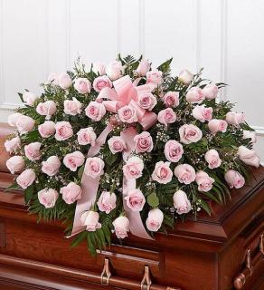 Rose Casket Spray - Pink
