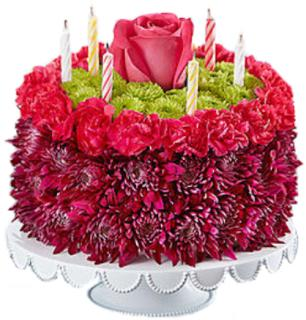 Birthday Wishes Flower Cake™ Purple