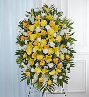 Sympathy Standing Spray - Yellow